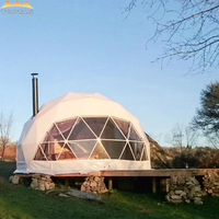 10m Holiday Villa Hotel Heavy Duty Steel Frame Geo Dome Tent Projection Domos