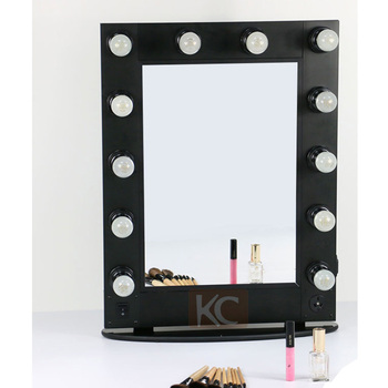Professional Portable Led Mirror Lighting Salon Makeup Folding With Lights