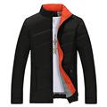 Candy Color Winter Jacket Men Slim Fit Black Coats Jackets Brand Fashion Stand Collar Zipper Coat