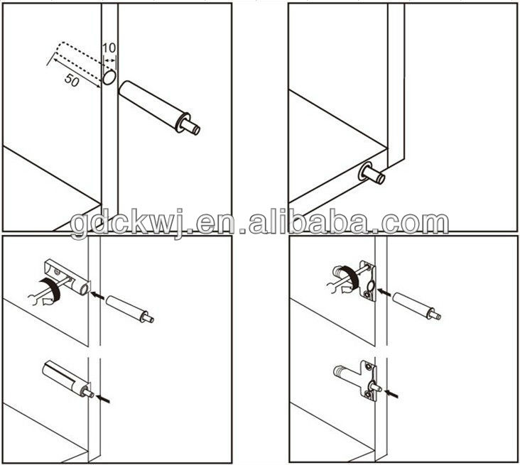 grey push to open door system plastic buffer cabinet buff door soft close plastic damper