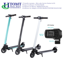 2017 HTOMT 6 inch Two Wheels Brushless Motor Electric Kick Scooter Aluminum Folding Scooter Electric Hoverboard