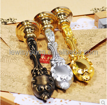 metal handle and brass stamp head business gifts high quality stamps 3 colors gold silver bronze
