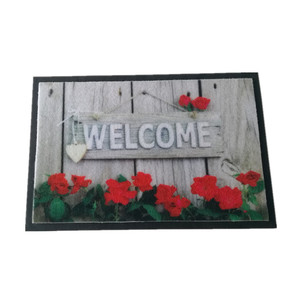 printed blank 3D door foot mat non-toxic indoor floor mat