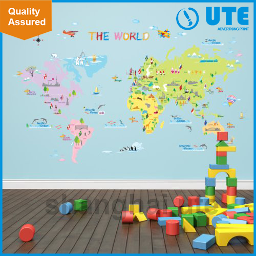 World Map Wall Sticker, World Map Wall Sticker Suppliers And Manufacturers  At Alibaba.com