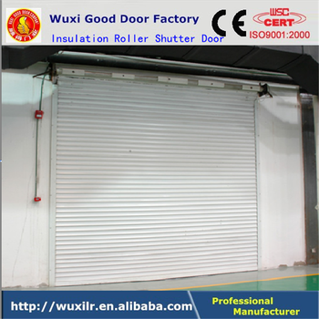 insulated roll up garage doorsExterior Electric Control Steel Insulated Rollup Shutter Garage