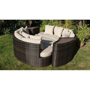 Sailing All Weather Woven Rattan Modern Outdoor Furniture Wicker Bali Daybed