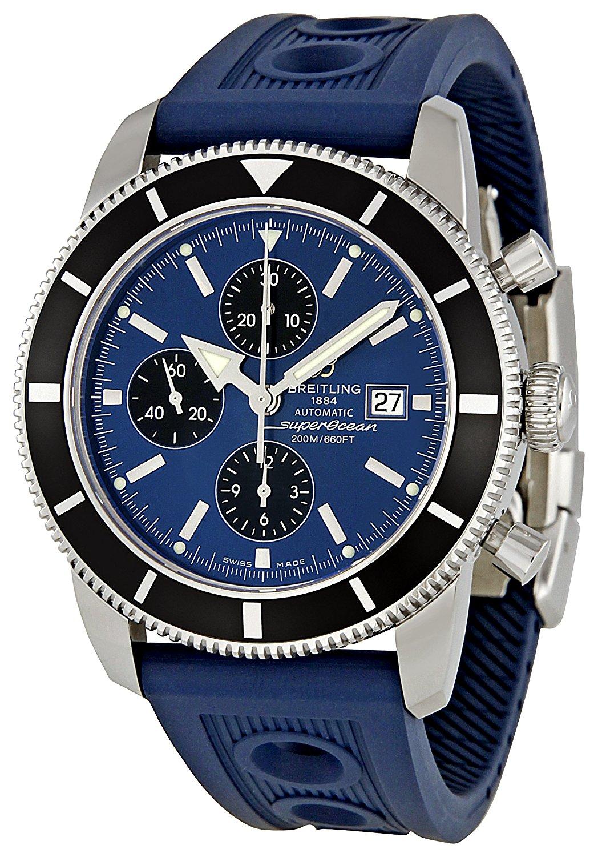 Breitling Men's A1332024/C817 Superocean Heritage Chronograph Blue Chronograph Dial Watch