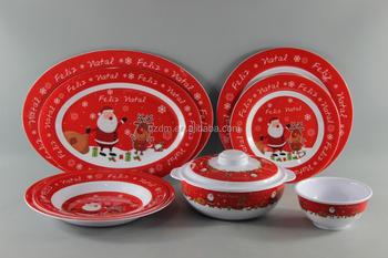 Christmas Theme Decal Print Melamine Tableware Set & Christmas Theme Decal Print Melamine Tableware Set - Buy Christmas ...