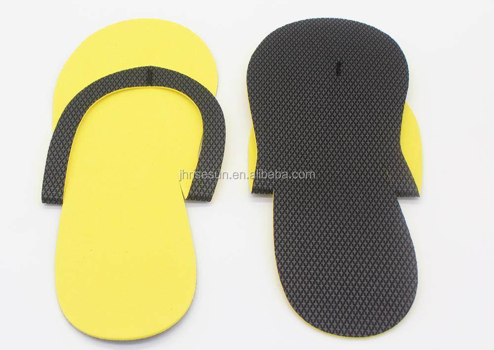 cb7df8f98570 RISESUN Wholesale indoor salon eva Disposable slippers Indoor slipper eva pedicure  slippers spa party idea