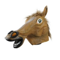 Horse Head Realistic animal Mask for Halloween Cosplay Costume Party