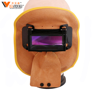 New selling cowhide light weight prevent splashing heat resistant custom masks helmets leather welding mask
