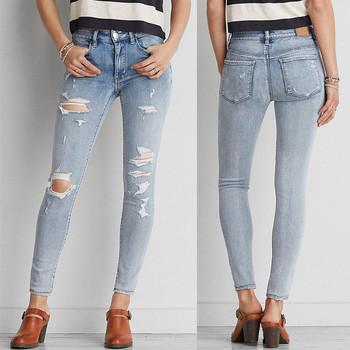 440f902ea Fancy design latest boyfriend ladies jeans tight sexy women skinny damaged  high quality denim jeans