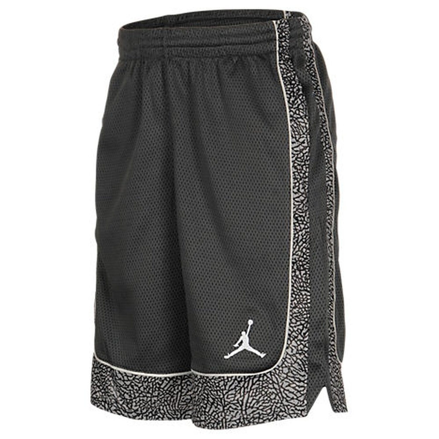 4fdc008eb5c Get Quotations · Nike Boys Elephants Print 2.0 Dri-Fit Basketball Shorts  Black/Grey