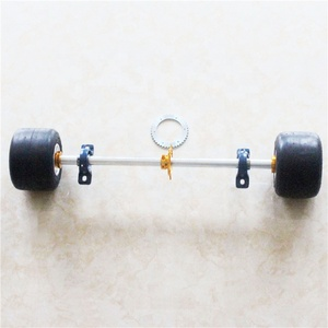 Full Set Go Kart Axle 1040mm Rear wheel axle rim tire axle kit