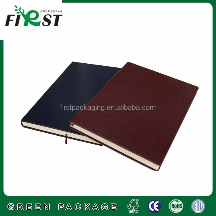 High-grade leather covered notebooks with thick inner paper kraft paper from for stationery supply