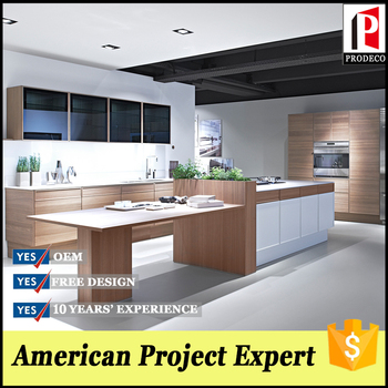 Laminate Door Skin Knock Down Kitchen Cabinets With Island