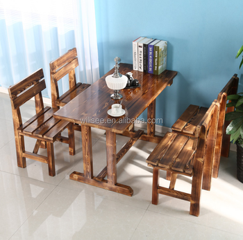 Stupendous Ls 1036 Antique Timber Solid Wood Dinning Table And Bench Or Wood Coffee Table And Bench Buy Solid Birch Wood Coffee Tables Square Wood Coffee Caraccident5 Cool Chair Designs And Ideas Caraccident5Info