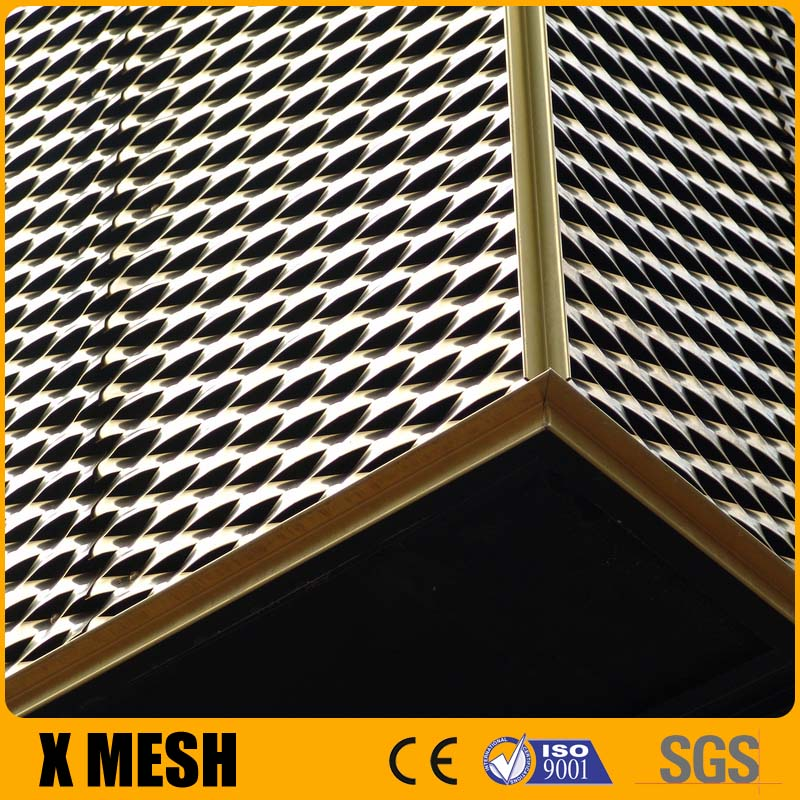 Flattened expanded metal mesh with 4x8 feet size for screening or security