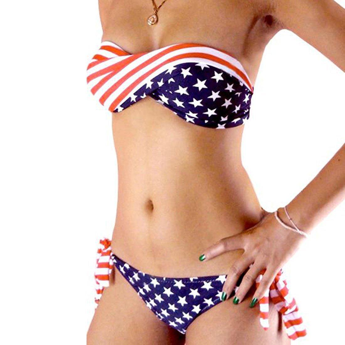 66d647ad62ce8 Get Quotations · USA Stars and Stripes Bikini