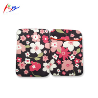 PC pouch flower sublimation 9 inch neoprene tablet handbag travelling protect case for notebook