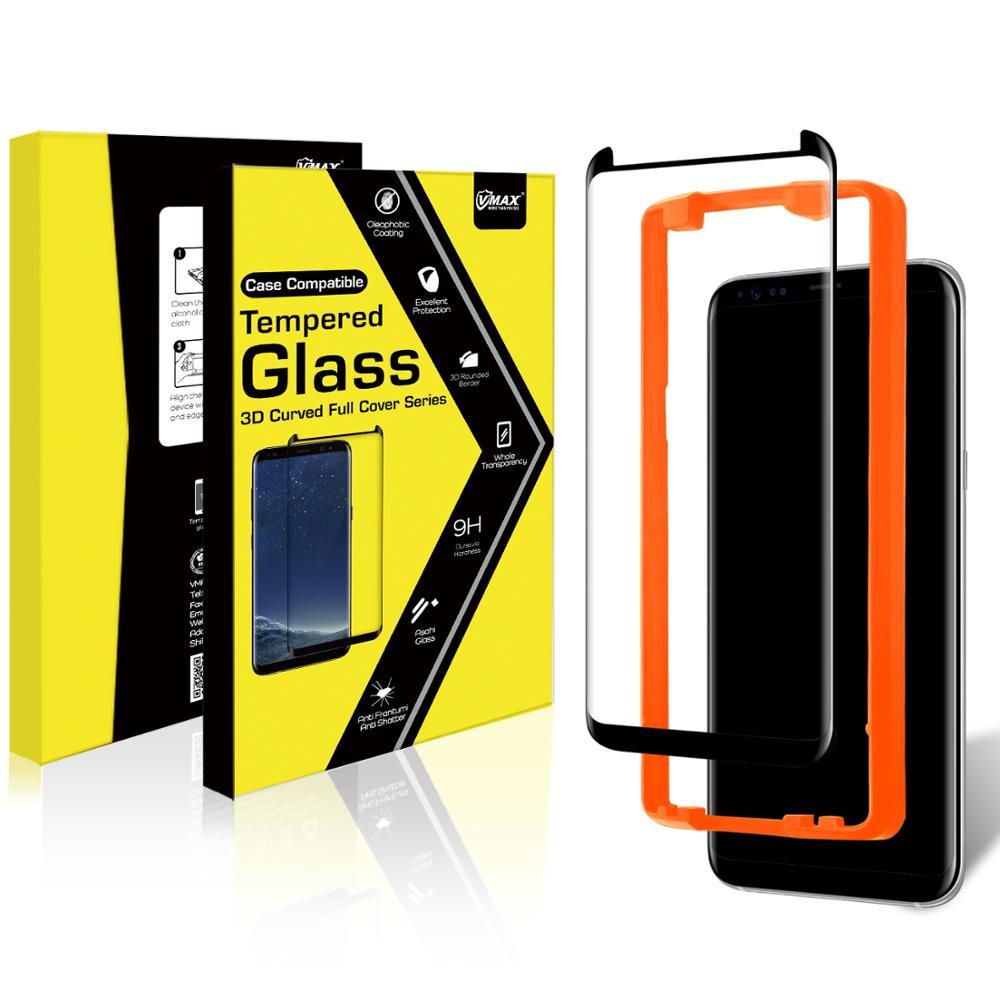 Fabrika Fiyat 0.33mm Sertlik Temperli Cam sıvı nano ekran koruyucu için Samsung galaxy S8 (Cam Kalkanı)