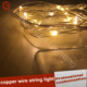 Pretty LED yellow copper wire string light for holiday lighting Easter decoration lights