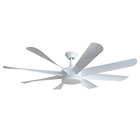 Big size industrial strong cold air wind BLDC DC motor low voltage and noise gym ceiling fan for malaysia