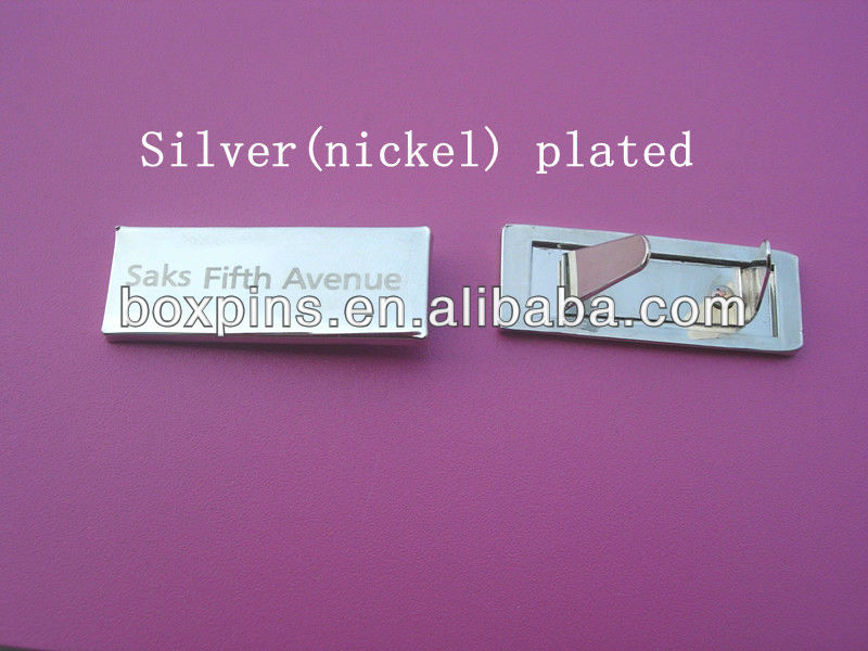 Silver plated logo plate
