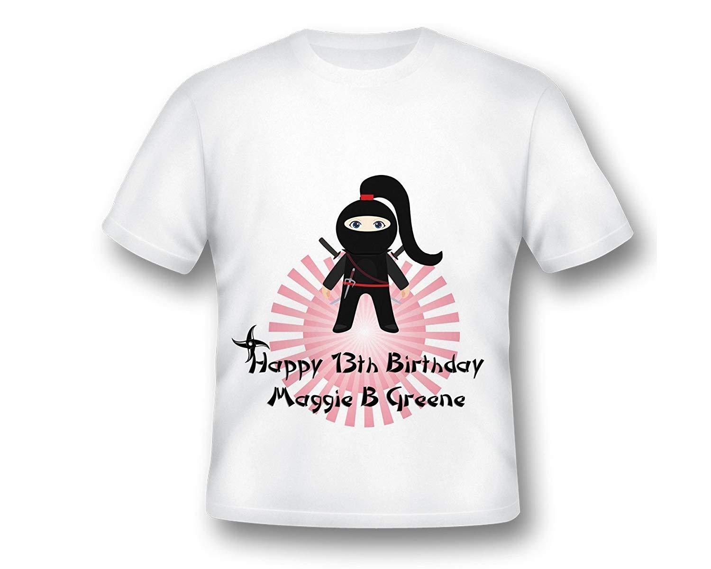865061d84 Get Quotations · Personalized Girl Ninja Shirt, Ninja Birthday, Girls  Karate Shirt, Ninja Birthday Shirt,