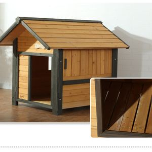 wooden dog cages and dog bed