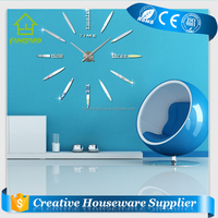 FY1001-03 DIY Wall Clock/ Fashion Design Home Decor 3D Wall Clock