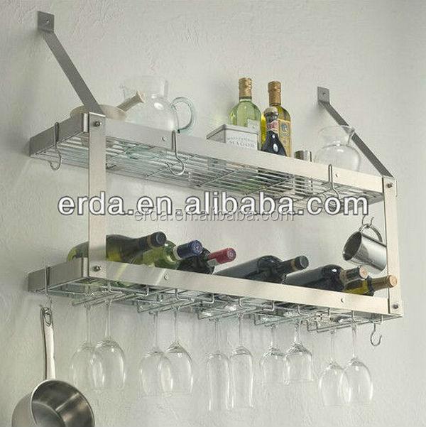 wandhalterung 2 tier küche hängen topf regal-speicherhalter und ... - Drahtregal Küche