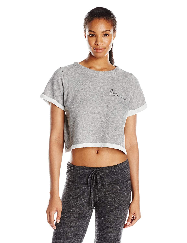 good hYOUman Womens Sam Sweaty Heather Crop Sweater