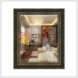 7850 8cm width antique frame wall mirror polyurethane decorative mirror frame