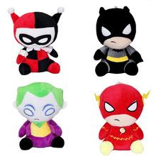 8inch The Flash Batman Harley Quinn The Joker Plush Toys Soft Stuffed Dolls 20cm