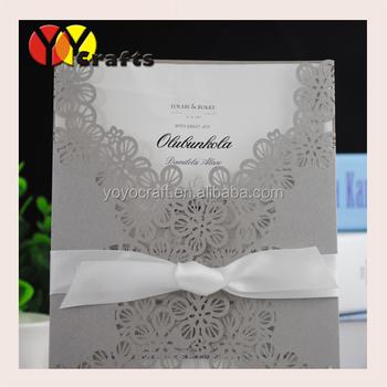 Laser Cut Wedding Invitationbengali Wedding Invitation Card