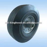 8X1.75 Powder rubber wheel with steel rim