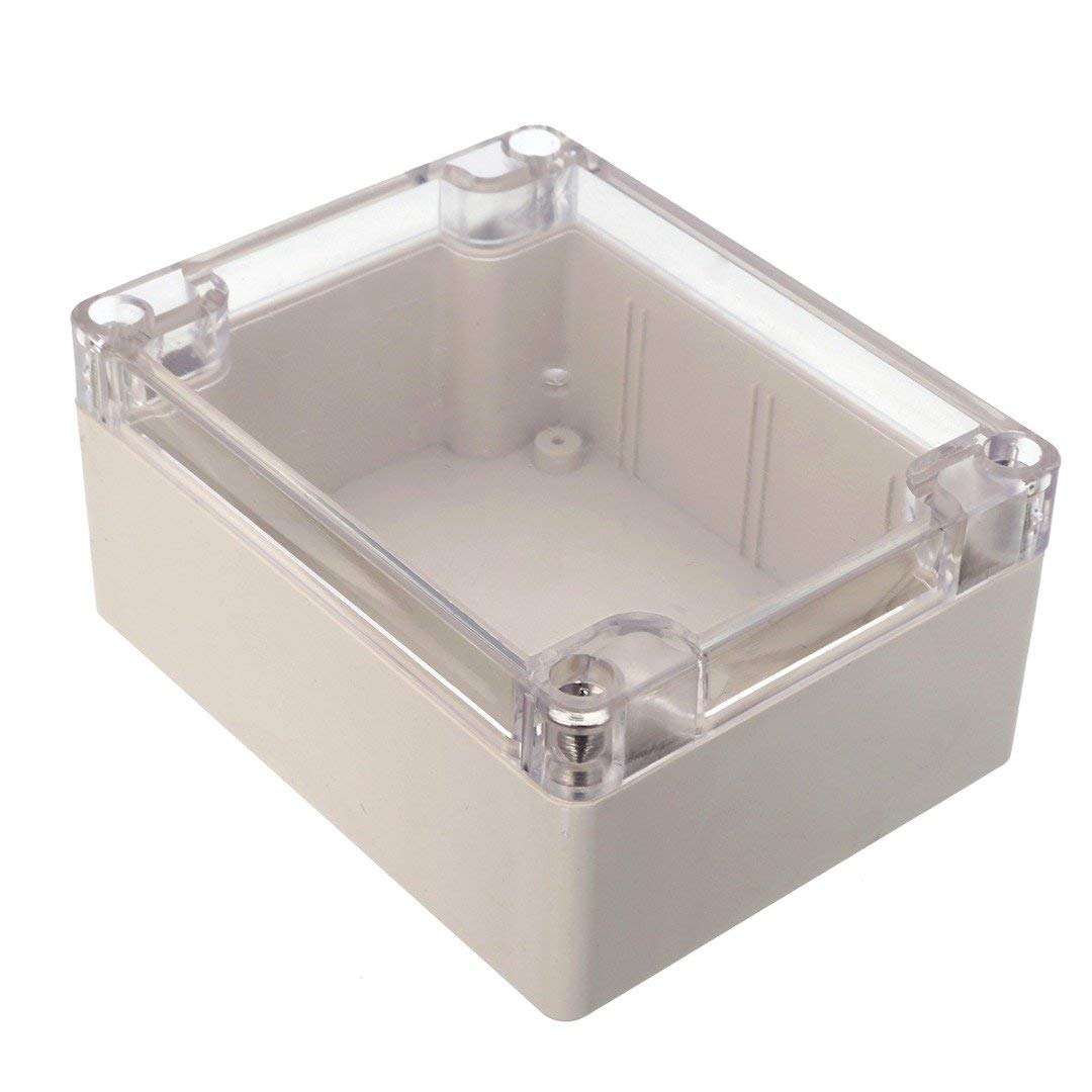 ERTIANANG 1pc Clear Cover Plastic Electronic Project Box Waterproof Enclosure Case 115mmx90mmx55mm
