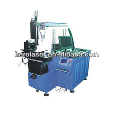 Automatic laser welding machine for eye glass frame