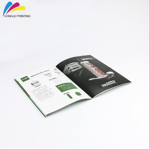 Professional Gold supplier catalog brochure printing with Long-term printing service