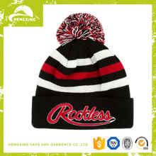 100% acrylic beanie with red embroidery letters polar fleece custom embroidery patch beanie cap
