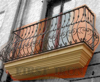 Topf Bauch Schmiedeeisen Balkon Designs Buy Schmiedeeisen Balkon