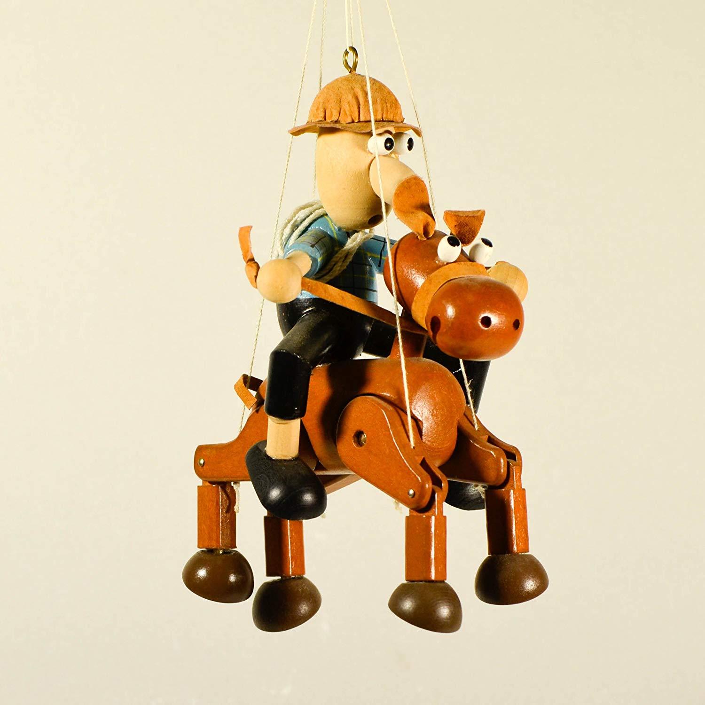 Wooden Horse Hanging Mobile Nursery Decor Horse Cowboy Nursery Mobile Cowboy Rodeo Boys Room Decor