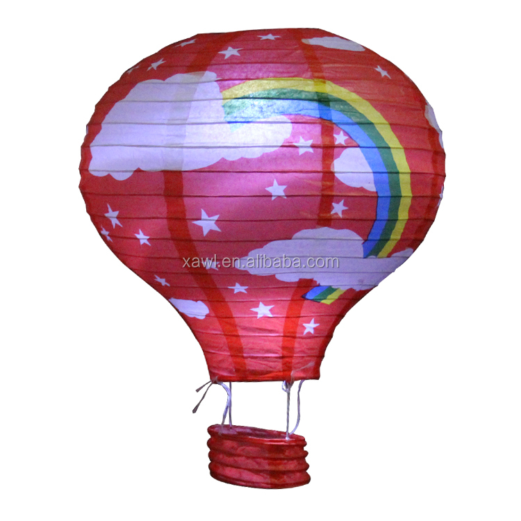 2015 Customize Printing Flying Floating Rainbow Paper Lanterns for weddings JLS03-1