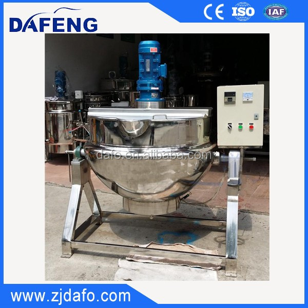 Stainless steel tilting steam heated jacketed pot,cooking pot.