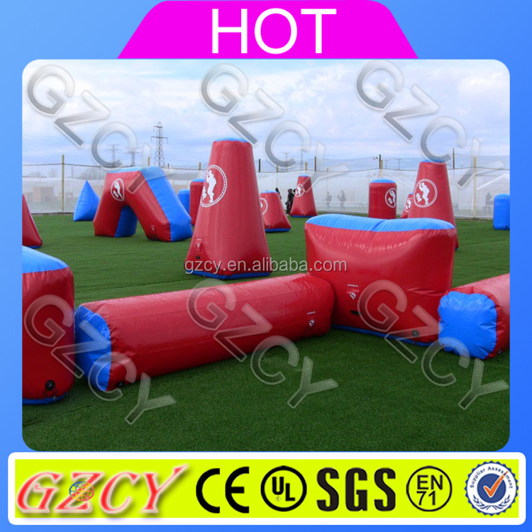 Wholesale inflatable paintball wall, inflatable bunkers paintball for rental