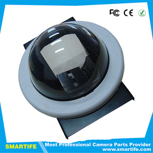 6inch dome monitoring security surveillance cctv camera housing cover with bracket