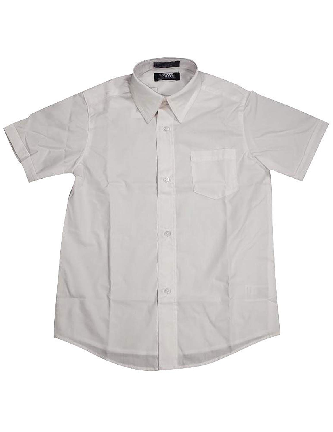 French Toast - Big Boys Short Sleeve Dress Shirt, White 33164-14