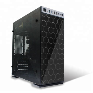stainless steel computer gaming micro atx mid tower case pc