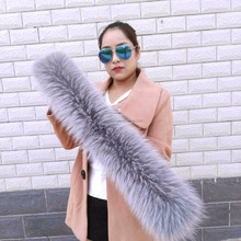 Custom made women raccoon fur collar